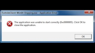 Real fix fortnite client-win64-shipping.exe application error 100 %