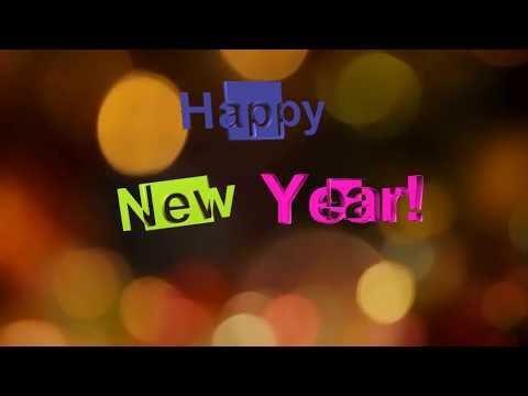 Happy New Year footage animation 3D 🎄надпись screensaver.🎁 Хаппи нью ир.Christmas