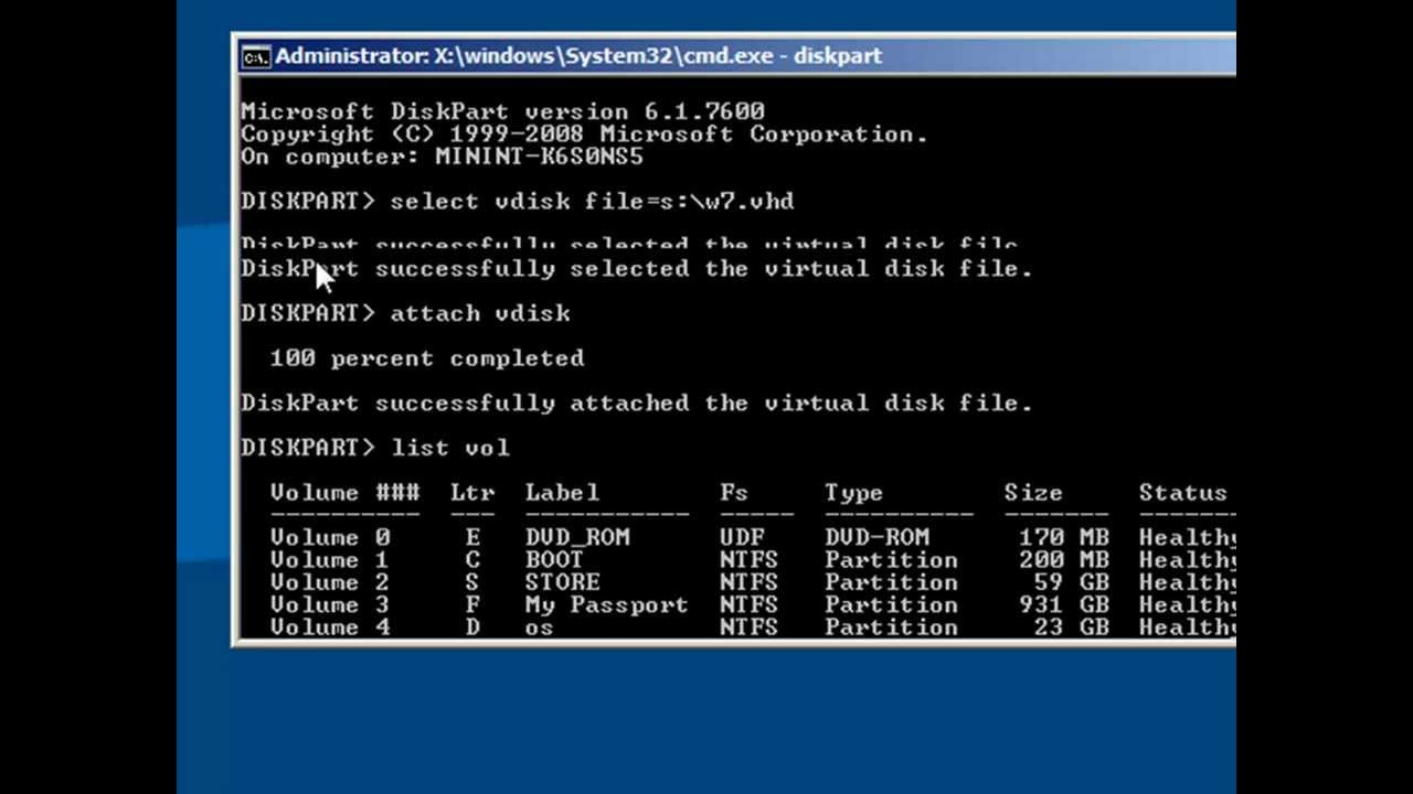 70 680 Add Windows 7 Native Boot Vhd To Clean Bare Metal