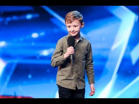 Ned Woodman [Legendado] - Got Talent | Garoto de 8 anos faz comédia tirando sarro de jurados.