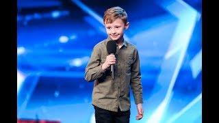 Ned Woodman [Legendado PT-BR] - Got Talent | Garoto de 8 anos faz comédia tirando sarro de jurados.