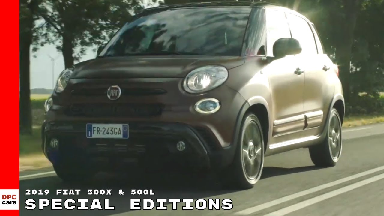2019 Fiat 500X and 500L S Design Special Editions