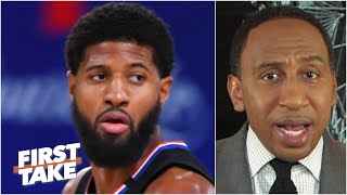 Stephen A.'s message to Paul George: 'You cannot play like this in the playoffs!' | First Take