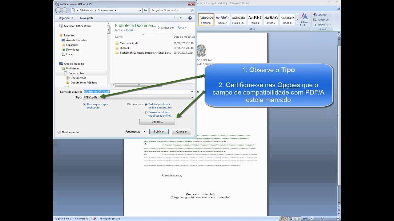 Salvar em PDF A Word 2007 - YouTube
