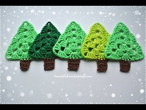 Crochet Christmas Tree Pattern Youtube