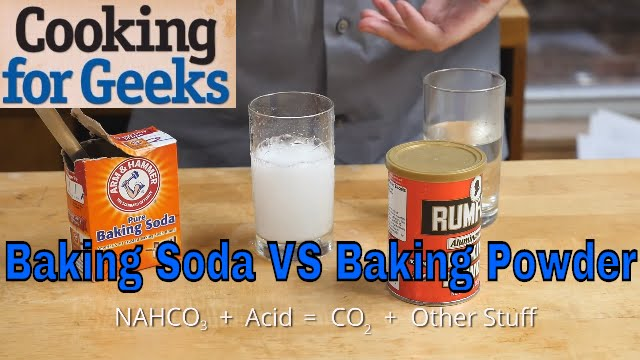 Baking Powder and Baking Soda — What's the Difference?