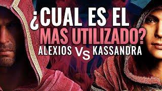 ¿ALEXIOS o KASSANDRA? ¿Cual es el PERSONAJE MÁS UTILIZADO en Assassin's Creed Odyssey?