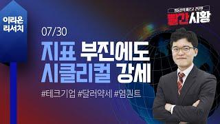 [염동찬의 빨간시황] 7/30 경제지표 부진과 테크기업…