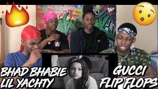 "BHAD BHABIE feat. Lil Yachty - ""Gucci Flip Flops"" (Official Music Video) - REACTION"