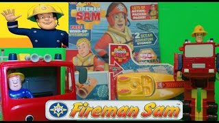 FIREFIGHTER FIREMAN SAM ENGLISH COMIC ISSUE 112 WITH FREE CLOCKWORK SPEEDBOAT UNBOXING