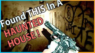 We Found A GUN In A HAUNTED HOUSE !!