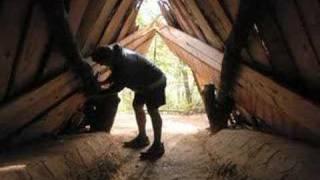 Visiting a Maidu bark house