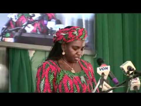 Hon. Minister of Water Resources, Mrs. Sarah Ochekpe at the Ministerial Platform