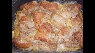 Индюшиное мясо с картошкой