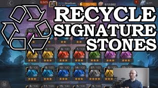 RECYCLE SIGNATURE STONES | Marvel Contest of Champions