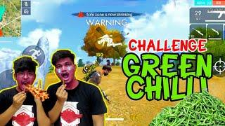 FREE FIRE || GREEN CHILLI CHALLENGE IN RANK MATCH || DUO VS SQUAD TSG JASH X TSG RITIK