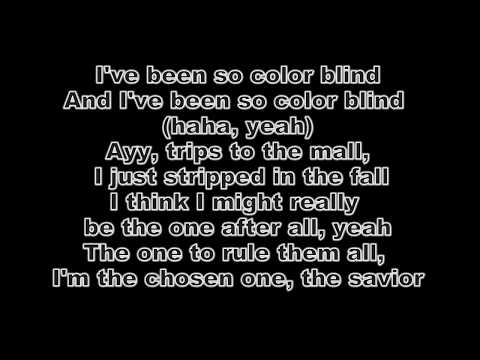 Diplo -  Color Blind feat  Lil Xan (Lyrics Video)