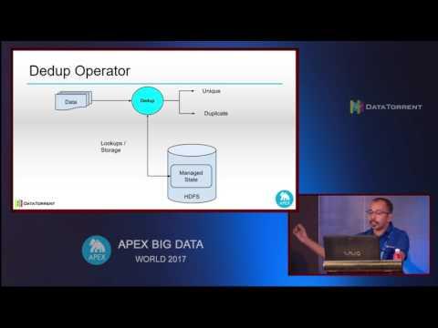 Deduplication at Scale (Platform Track) @ Apex Big Data World 2017, Pune