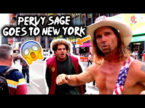 "Jiraiya ""Pervy Sage"" Goes To New York (Naruto's Trick)"