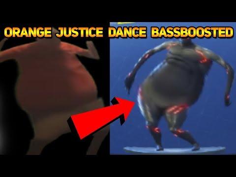 FORTNITE ORANGE JUSTICE DANCE EMOTE BASS BOOSTED (Orange Shirt Kid)