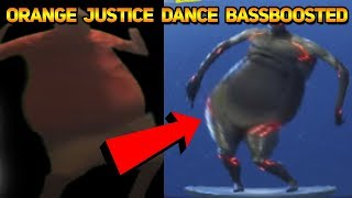 FORTNITE ORANGE JUSTICE DANCE EMOTE BASS BOOSTED (Orange Shirt Kid)