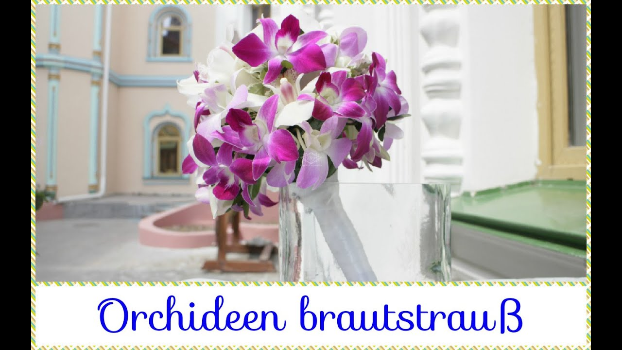 orchideen brautstrau youtube. Black Bedroom Furniture Sets. Home Design Ideas