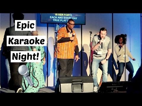EPIC KARAOKE NIGHT!   #RootsTech 2017