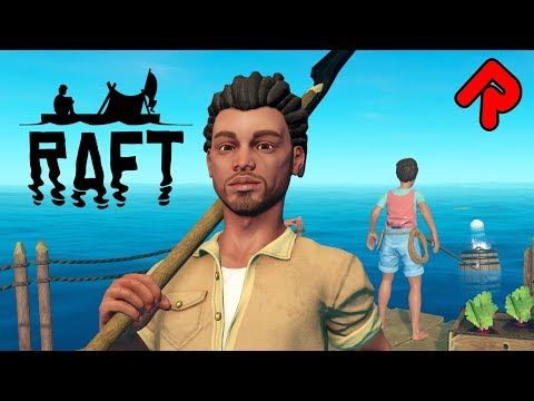 Survive a SHARK-INFESTED Ocean! | Let's play RAFT gameplay 2018 ep 1 (Early Access PC game)