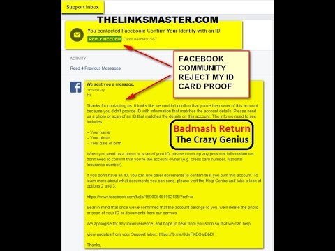 Fix / Bypass Facebook Identity Not Confirmed ! Fb Reject My Id Proof Solved
