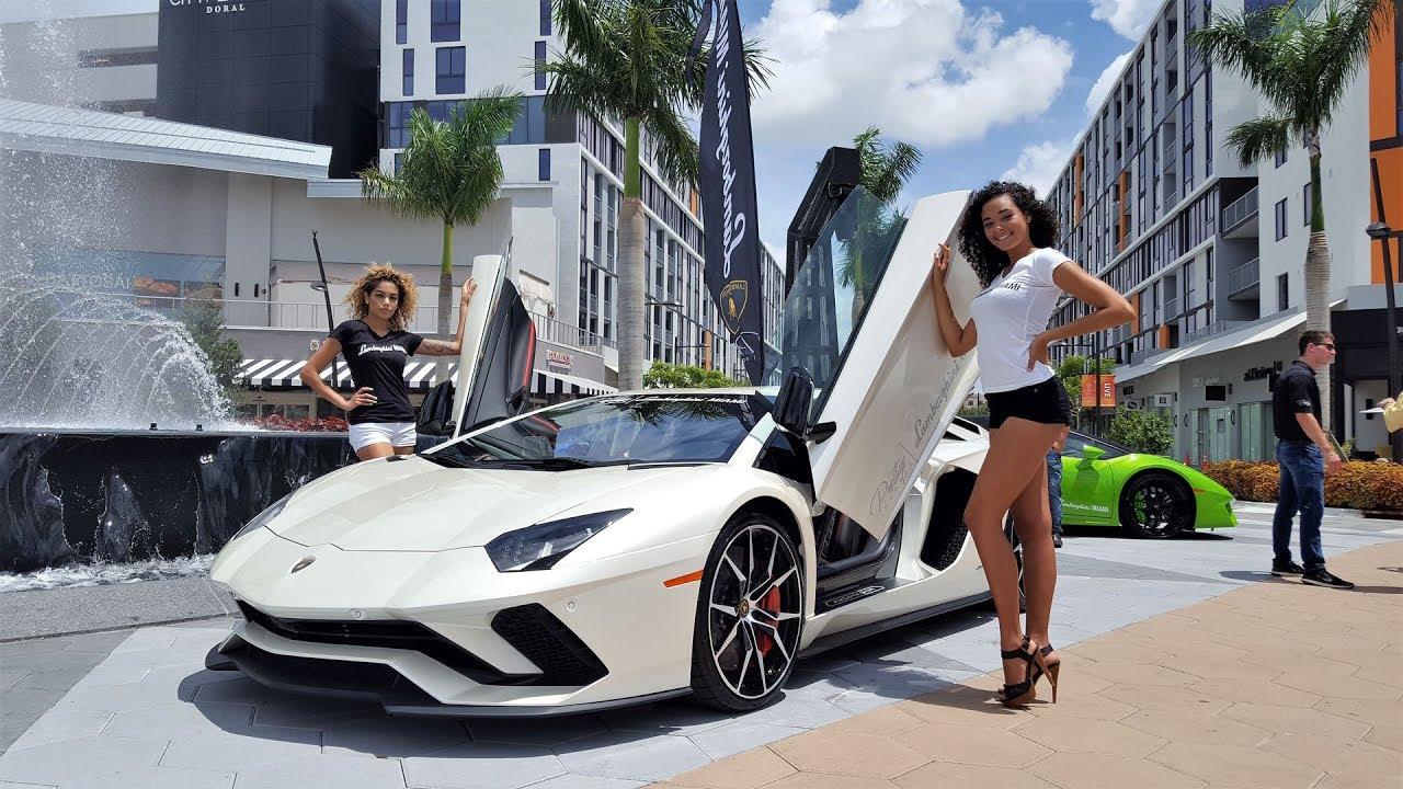 hot cars hot girls lamborghini miami supercar paradise at fathers day car show