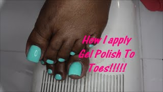 How to apply gel polish to toes