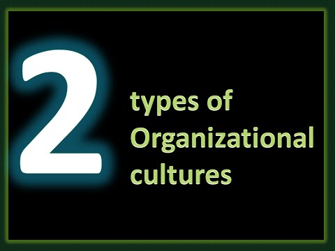 What is Culture ? Types of Organizational Cultures