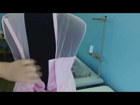 Как вшить потайную молнию в платье Часть №6