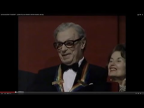 """NATHAN MILSTEIN """"""""HONOREE"""""""" - (COMPLETE) 10th KENNEDY CENTER HONORS, 1987"""