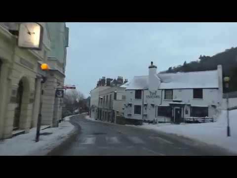 Driving In Snow On The A449 From Worcester Through Malvern To Ledbury, England 2nd March 2018