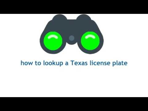 Texas License Plate Lookup Promo Video Videos & Books