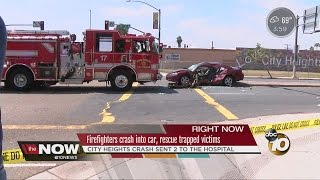 Firetruck Crashes Into Car While Heading to a Call