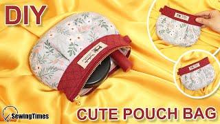 DIY CUTE POUCH BAG | Small Purse Free Pattern & Tutorial [sewingtimes]