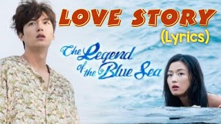 Cover images Lyn- love story ( lyrics) .ost the legend of the blue sea