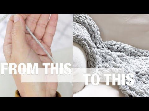 How to Arm Knit With Thin Yarn, Including Blanket Pattern  - Simply Maggie