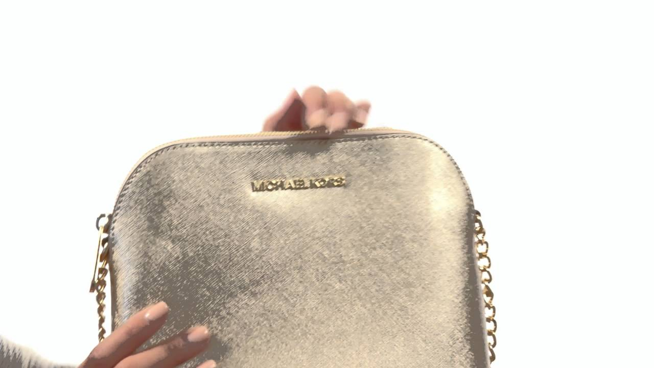 44355dde5d4d MICHAEL Michael Kors Cindy Large Dome Crossbody SKU 8703738 - YouTube