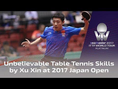 Unbelievable table tennis skills by Xu Xin