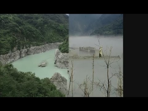 [RAW] Chinese Ghost Town That Has Emerged From Under Water Five Years After Earthquake