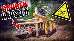 GRUBENHAUS 2.0 Bushcraft Shelter #006 - Lagerbau - Outdoor Bushcraft Camp | Fritz Meinecke