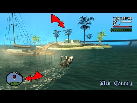 Secret Island with Mansion Save House in GTA San Andreas! (Hidden Island)
