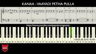 KANAA - VAAYADI PETHA PULLA ( HOW TO PLAY ) MUSIC NOTES