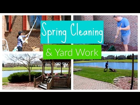 Spring Cleaning & Yard Work   Clean with Me Outside Edition
