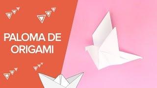 Cómo hacer una paloma de origami | Papiroflexia para niños
