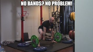 How To Set Up Bands For The Deadlift WITHOUT Attachments On Your Platform