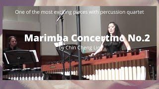 Marimba Concertino No 2 by Chin Cheng Lin with USC percussion quartet April 2016